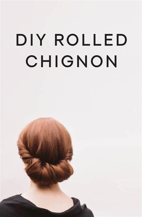 diy rolled chignon hair tutorial diy oncewedcom