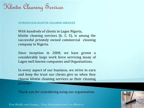 klintin cleaning services