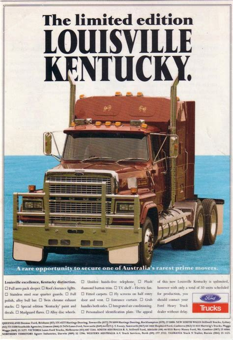 ford ltl  louisville kentucky truck ad ford ltl