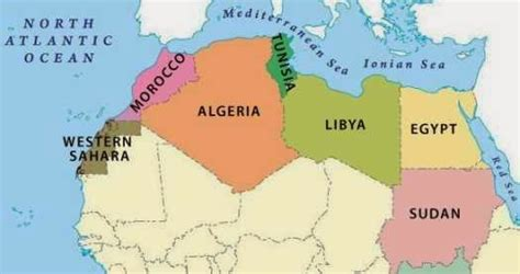 political map  north africa  printable maps