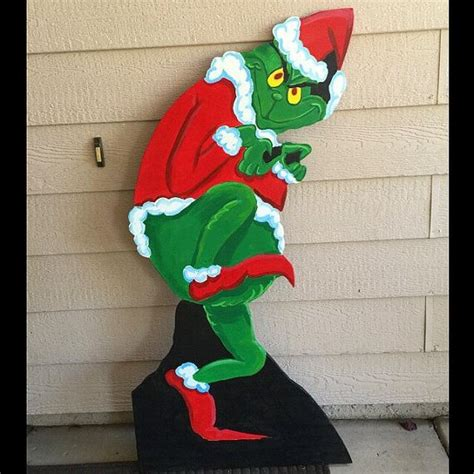 christmas cut out yard decorations grinch cutout wood grinch cutout outdoor grinch christmas grinch yard decoration dr seuss