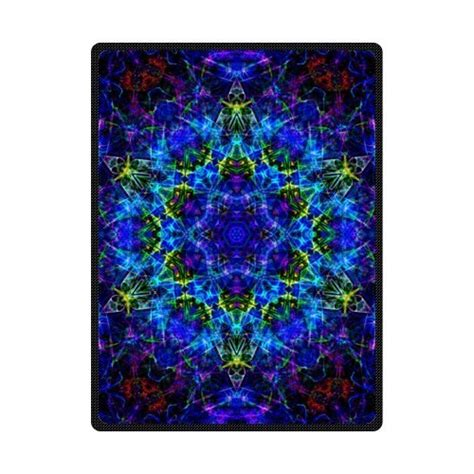 best selling trippy psychedelic 58 quot x 80 quot large fleece travel blanket with standard size in