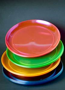 Hula Neon Plastic Party Plates Pk20