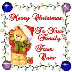 merry to your family from ours pictures photos and images for