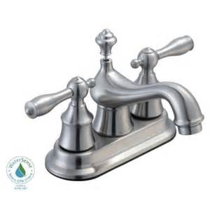 glacier bay estates 4 in centerset 2 handle low arc bathroom faucet in brushed nickel 408he