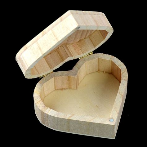 arrival cheap small wooden boxes organizer heart
