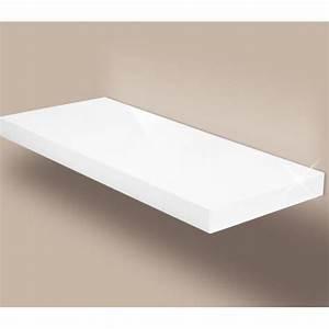 étagère 60 Cm Largeur : tag re murale en blanc brillant convient toutes les pi ces du salon la salle de bain ~ Teatrodelosmanantiales.com Idées de Décoration