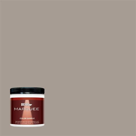 behr marquee 8 oz n200 4 rustic taupe one coat hide interior exterior flat matte paint sle