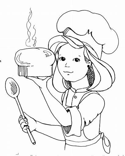 Cooking Clipart Coloring Pages Easy Lds Clip