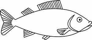 Fish Outline clip art Free vector in Open office drawing ...