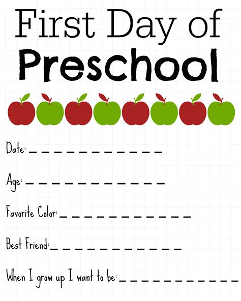day of school printable about me signs hugs 745 | preschool