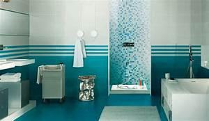 la couleur bleu cyan sempare de la salle de bains With salle de bain couleur bleu
