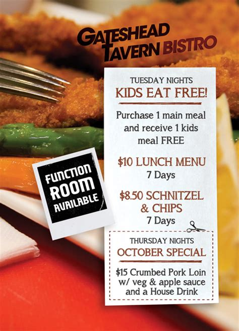 gateshead tavern bistro restaurant   great spot  lunch dinner  functions  charlestown