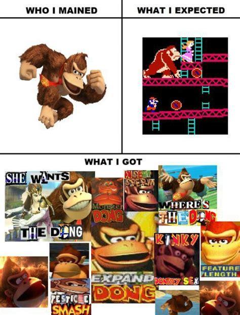 Donkey Kong Memes - expand memes donkey kong expand dong memes compilation smash amino