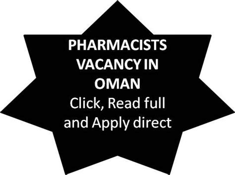 Pharmacist Vacancy by Pharmjobs Org Pharmacist Vacancy In Oman