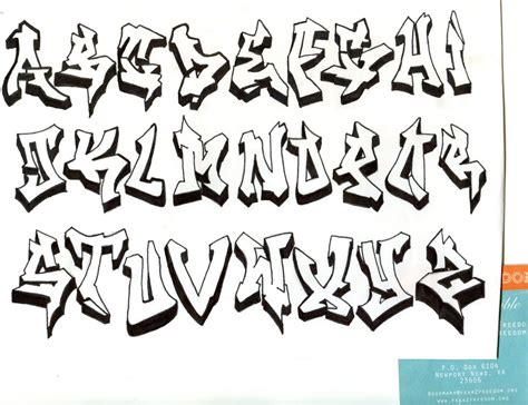 Graffiti Art Alphabet : Graffiti Alfabet