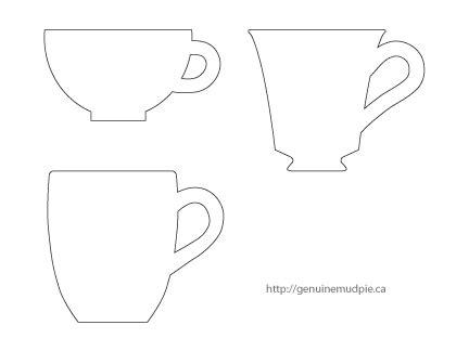 tea cup template a cup of tea genuine mudpie