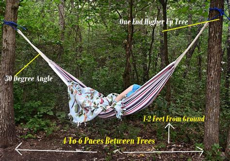 Hammock Backpacking Tips by Best Way To Hang A Cing Hammock Sleeping With Air