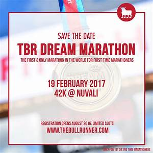 The Bull Runner Save The Date TBR Dream Marathon 2017