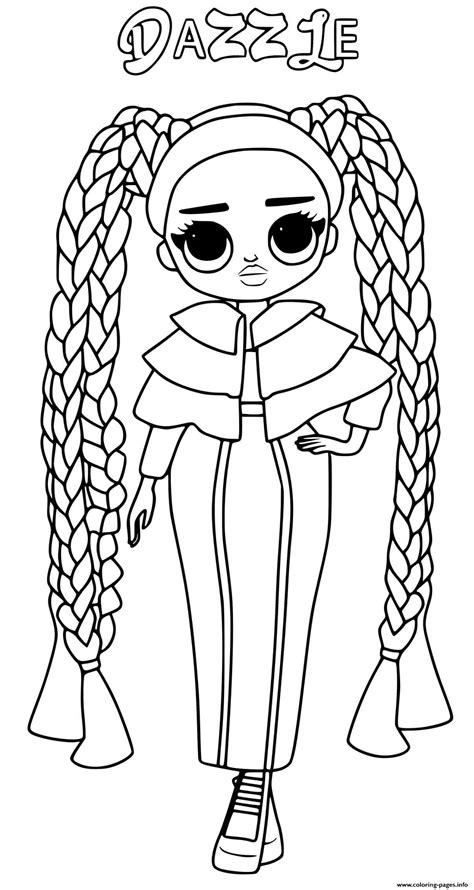 dazzle lol omg coloring pages printable