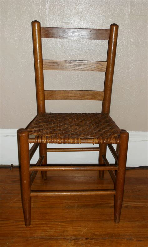 early ladder back chair with woven seat haute juice