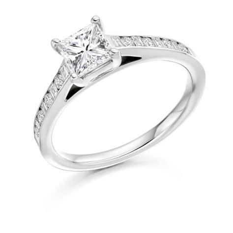 white gold princess cut wedding rings 18 carat white gold princess cut brilliant cut 1333