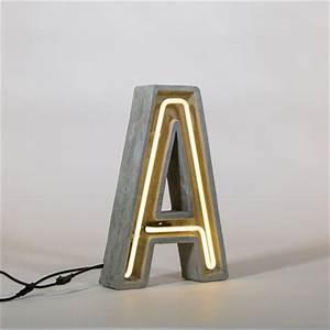 Néon Alphacrete Table lamp Letter A Indoor outdoor A