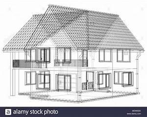 Haus Zeichnen 3d : drahtmodell bauplan zeichnen von 3d haus vector illustration vektor abbildung bild 180643398 ~ Watch28wear.com Haus und Dekorationen