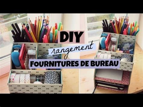 Diy Organisation  Rangement Bureau Youtube