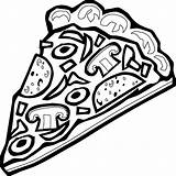 Pizza Coloring Animationsa2z sketch template