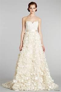 lazaro fall 2012 wedding dresses wedding inspirasi page 3 With floral lace wedding dress