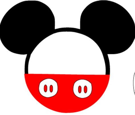 Mickey Shape  Clipart Best