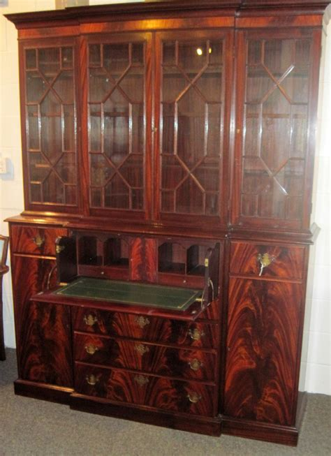 used china cabinet for sale fabulous fineberg mahogany breakfront with desk