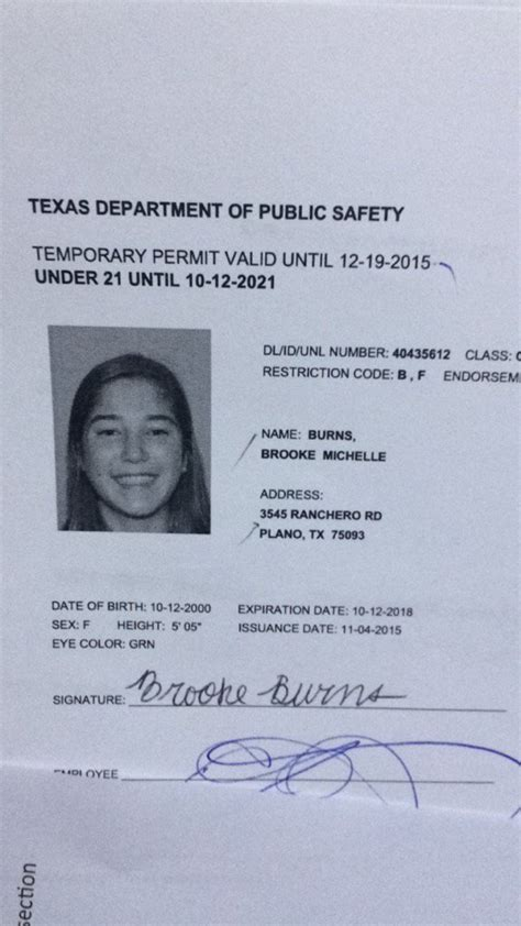 texas fake id dru burns on quot when brookemburns131 is 21 until 2021 lol https t co gujzn3i9t7 quot