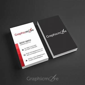 25 free vertical business card mockups psd templates for Horizontal business card template