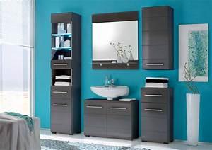 Badezimmermöbel Set Grau : badezimmerm bel grau hochglanz haus ideen ~ Whattoseeinmadrid.com Haus und Dekorationen