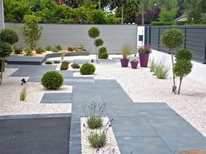 amenagement d39une entree de maison With amenagement de jardin contemporain