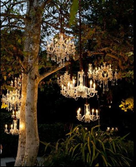 wedding ceremony space lighting ideas  outdoors