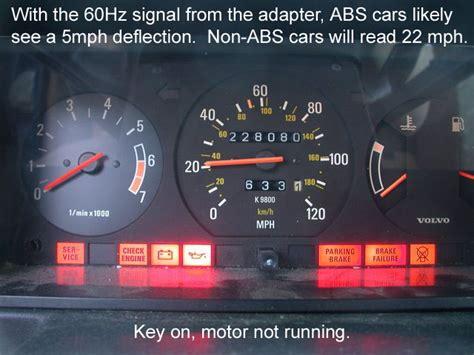 volvo  speedometer diagnostic