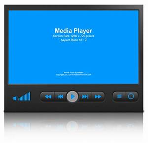 Media Player Device Mock Up Cover Action Set