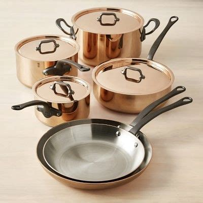 mauviel copper triply  piece cookware set mutfak