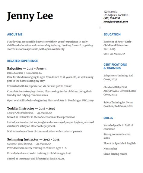 Babysitting On A Resume by How To Write A Resume That Will Get You The