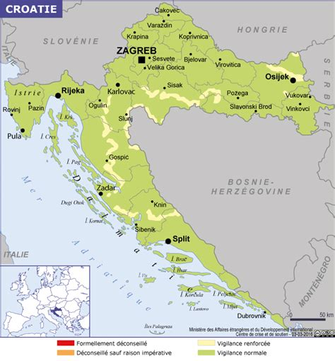 anglais bureau croatie