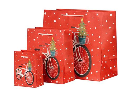 bicycle holiday gift bags