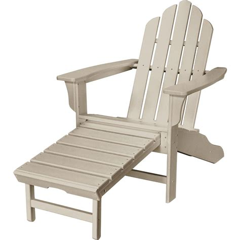 adirondack chair and ottoman hanover sand all weather plastic outdoor adirondack chair