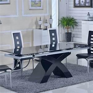 Table De Salle A Manger En Verre Avec Rallonge : table verre rallonge salle manger ~ Teatrodelosmanantiales.com Idées de Décoration