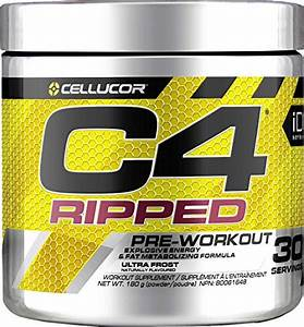 C4 Ripped Pre Workout Powder Ultra Frost