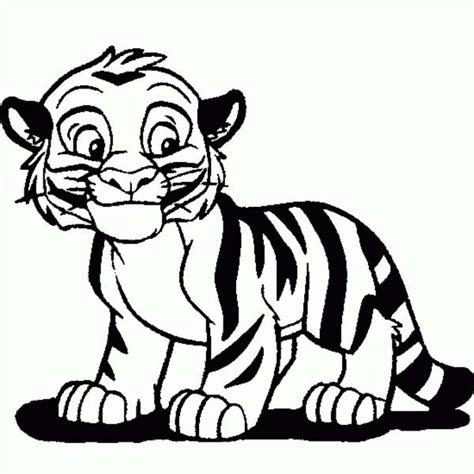 cartoon tiger drawing cute tiger cub  cartoon coloring
