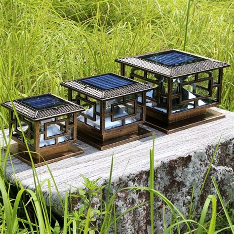 d30 h25cm led outdoor solar powered garden l decoration