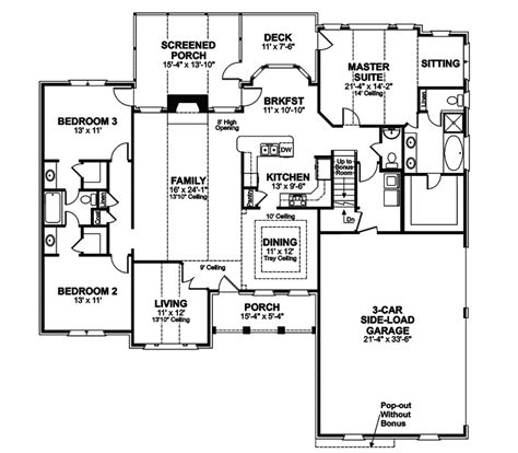 house plans and more houseplans and more heritage manor southern home plan 024s